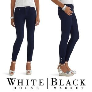 WHBM • Navy Blue Skimmers with Stud Snaps